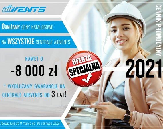 Nowy cennik promocyjny AirVents